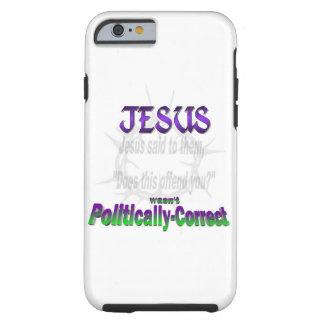 Jesús político incorrecto funda para iPhone 6 tough