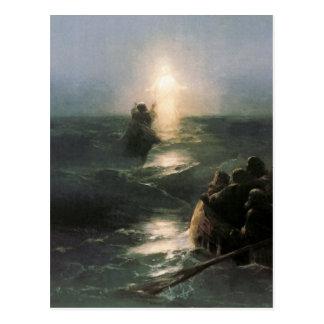 Jesús que camina en los mares tempestuosos
