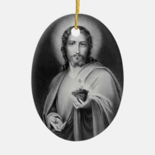 Jesús que sostiene un ornamento religioso del cora ornamentos de reyes magos