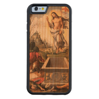 Jesús que sube sobre su tumba funda de iPhone 6 bumper cerezo
