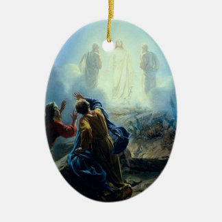 Jesús religioso en el ornamento de la pintura de l ornamento para arbol de navidad
