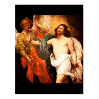 Jesús resucitado con ángel