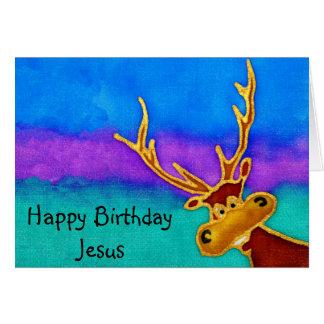 Jesús, tarjeta tonta del macho del feliz