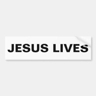 """Jesús vive"" pegatina para el parachoques"