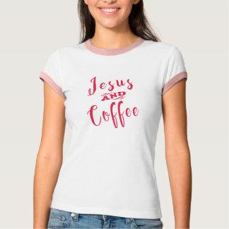 Jesús y café camiseta