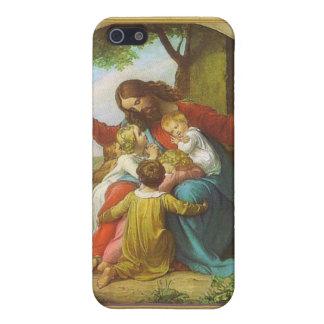 Jesús y los niños iPhone 5 protectores