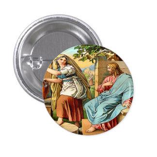 Jesús y mujeres en el botón bien chapa redonda 2,5 cm