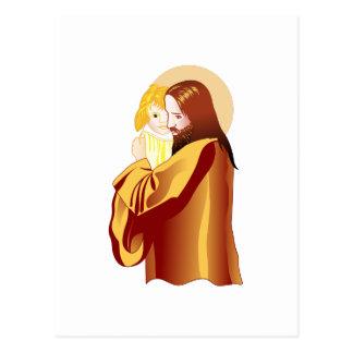 Jesús y niño postal