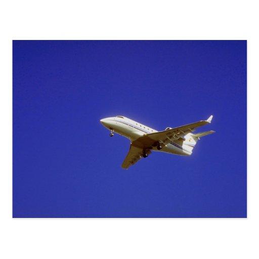 Jet ejecutivo tarjeta postal