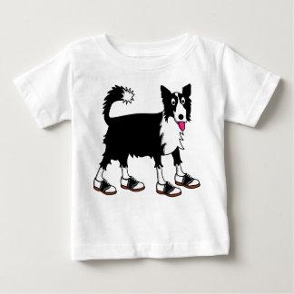 Jett el border collie camiseta de bebé