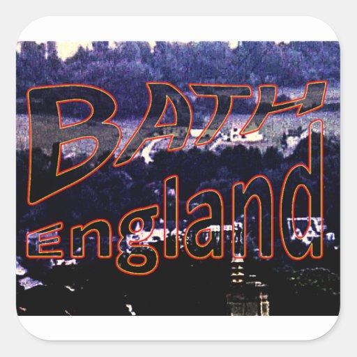 jGibney 0001a1 de Inglaterra 1986 del baño El Calcomanía Cuadradase