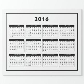jGibney 2016 Calendar2 los regalos de Zazzle del Papel De Regalo