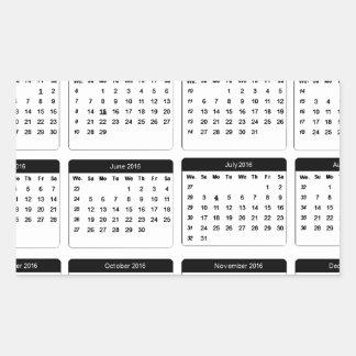 jGibney 2016 Calendar2 los regalos de Zazzle del Pegatina Rectangular