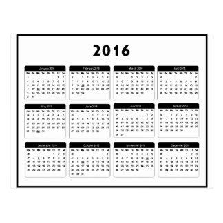 jGibney 2016 Calendar2 los regalos de Zazzle del Postal