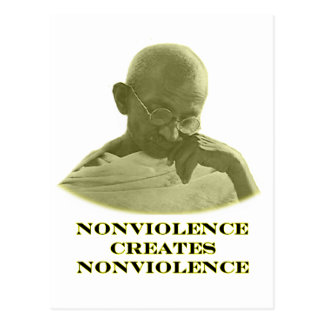 jGibney amarillo del Nonviolence El MUSEO Zazzle Postal