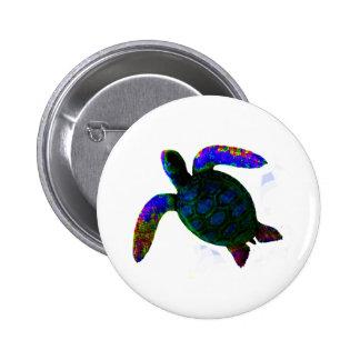 jGibney azul de la tortuga los regalos de Zazzle Chapa Redonda De 5 Cm