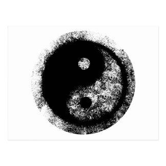jGibney blanco del arte negro de Yin Yang El MUSEO Postal
