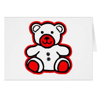 jGibney blanco rojo del oso de peluche El MUSEO Tarjeta De Felicitación