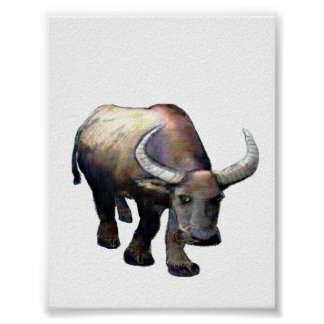 jGibney colosal de China Giclée del buey del búfal Posters
