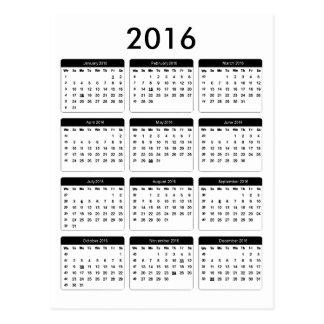 jGibney de 2016 calendarios los regalos de Zazzle Postal