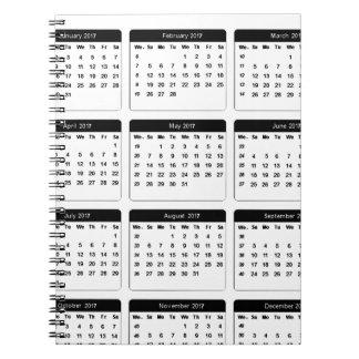jGibney de 2017 calendarios los regalos de Zazzle Libro De Apuntes