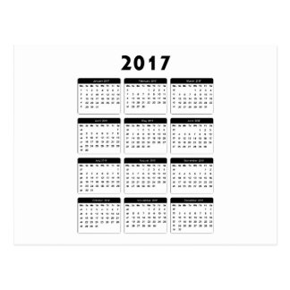 jGibney de 2017 calendarios los regalos de Zazzle Postal