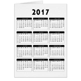 jGibney de 2017 calendarios los regalos de Zazzle Tarjeta De Felicitación