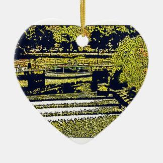jGibney de Inglaterra 1986 snap-11510artBlack del Adorno Navideño De Cerámica En Forma De Corazón