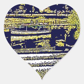 jGibney de Inglaterra 1986 snap-11510artBlue del Pegatina En Forma De Corazón