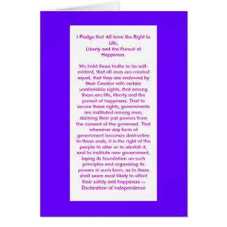 jGibney de la Declaración de Independencia El Tarjeta De Felicitación
