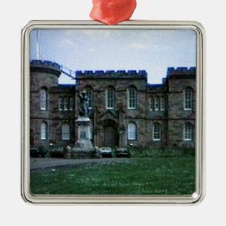 jGibney del arte snap-37689a del castillo de Adorno Navideño Cuadrado De Metal