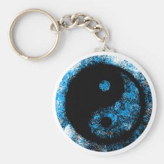 jGibney del negro azul de Yin Yang el regalo de Llavero Redondo Tipo Chapa