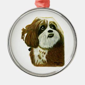 jGibney del perrito de MURPHY los regalos de Adorno Navideño Redondo De Metal