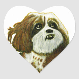 jGibney del perrito de MURPHY los regalos de Calcomanías Corazones