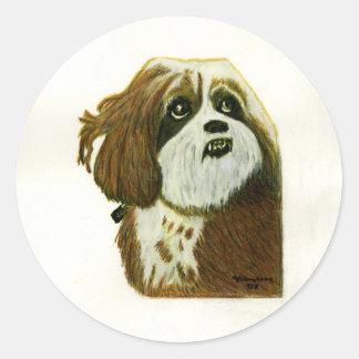 jGibney del perrito de MURPHY los regalos de Etiquetas Redondas