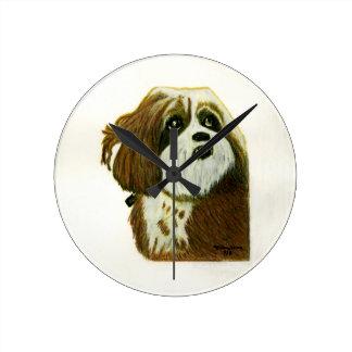 jGibney del perrito de MURPHY los regalos de Relojes De Pared