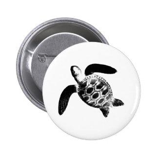 jGibney negro de la tortuga los regalos de Zazzle Chapa Redonda De 5 Cm