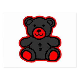 jGibney negro rojo del oso de peluche El MUSEO Postal