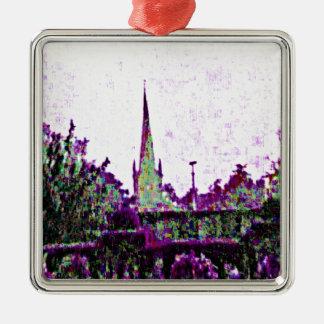 jGibney púrpura del jardín de Stratford-sobre-Avon Adorno Navideño Cuadrado De Metal