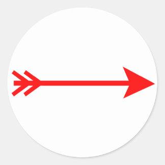 jGibney recto rojo de la flecha los regalos de Pegatina Redonda