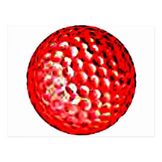jGibney rojo del golf Ball1 los regalos de Zazzle Postal