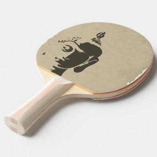 Ji retra de moda del inconformista del arte de pala de ping pong