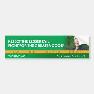 Jill Stein para el bumpersticker del Pegatina Para Coche