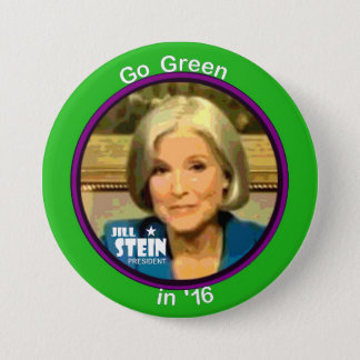 Jill Stein para el presidente 2016 Chapa Redonda De 7 Cm