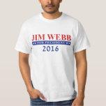 Jim Webb para el presidente 2016 Camiseta