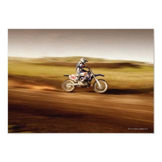 Jinete 2 del motocrós invitación 12,7 x 17,8 cm
