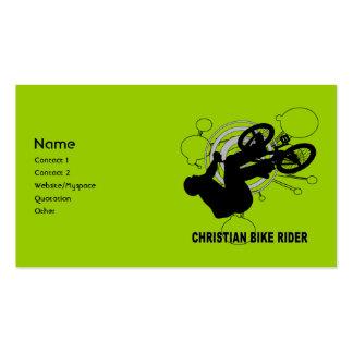 Jinete cristiano de la bici plantillas de tarjetas de visita