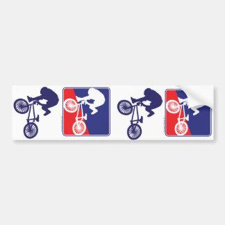 Jinete de BMX - blanco y azul rojos Pegatina Para Coche
