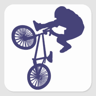 Jinete de la bici de BMX Colcomanias Cuadradas Personalizadas