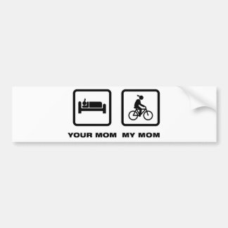 Jinete de la bicicleta pegatina para coche